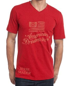 jesse-mader-urban-rock-american-dreamin-baseball-red-tee-shirt-men-vneck