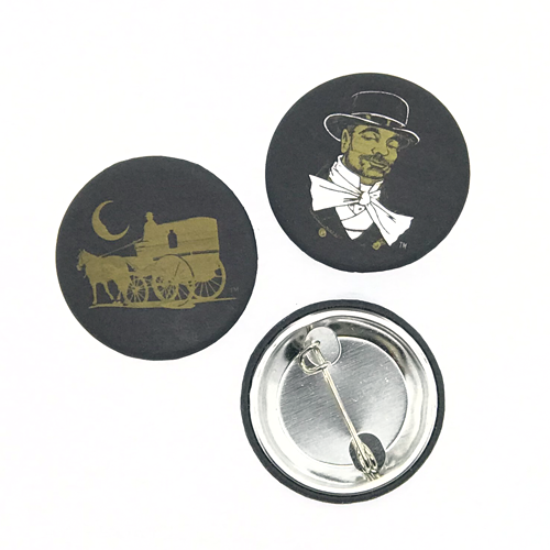 Dr-Tumbletys-Apothecary-Pittsburgh-Inspired-By-Spirits-Distilling-Co-Soft-Touch-Buttons-black-gold-pin-inspired-by-spirits-distilling-company-horse-carriage-souvenir