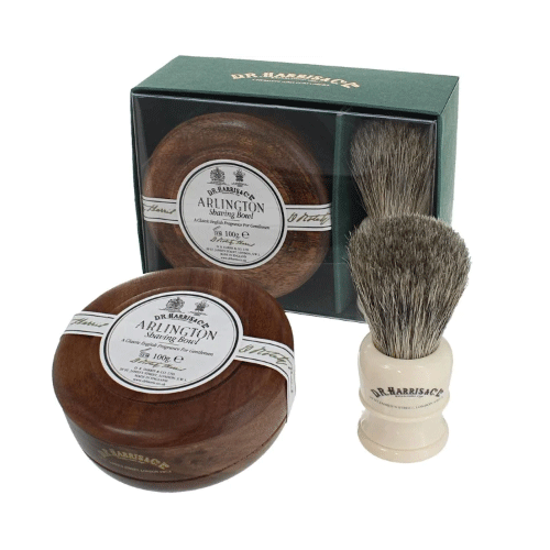 Dr-Tumbletys-Apothecary-inspired-by-spirits-distilling-company-Pittsburgh-DR-harris-london-arlington-gift-set-shaving-bowl-and-brush-beard-mustache-moustache-hipster