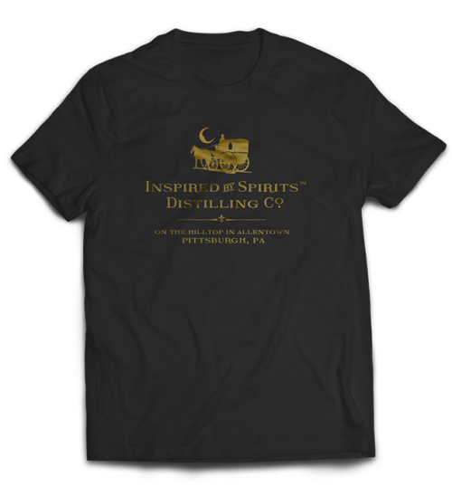 Dr-Tumbletys-Apothecary-inspired-by-spirits-distilling-company-Pittsburgh-black-tee-shirts-classic-gold-lustre