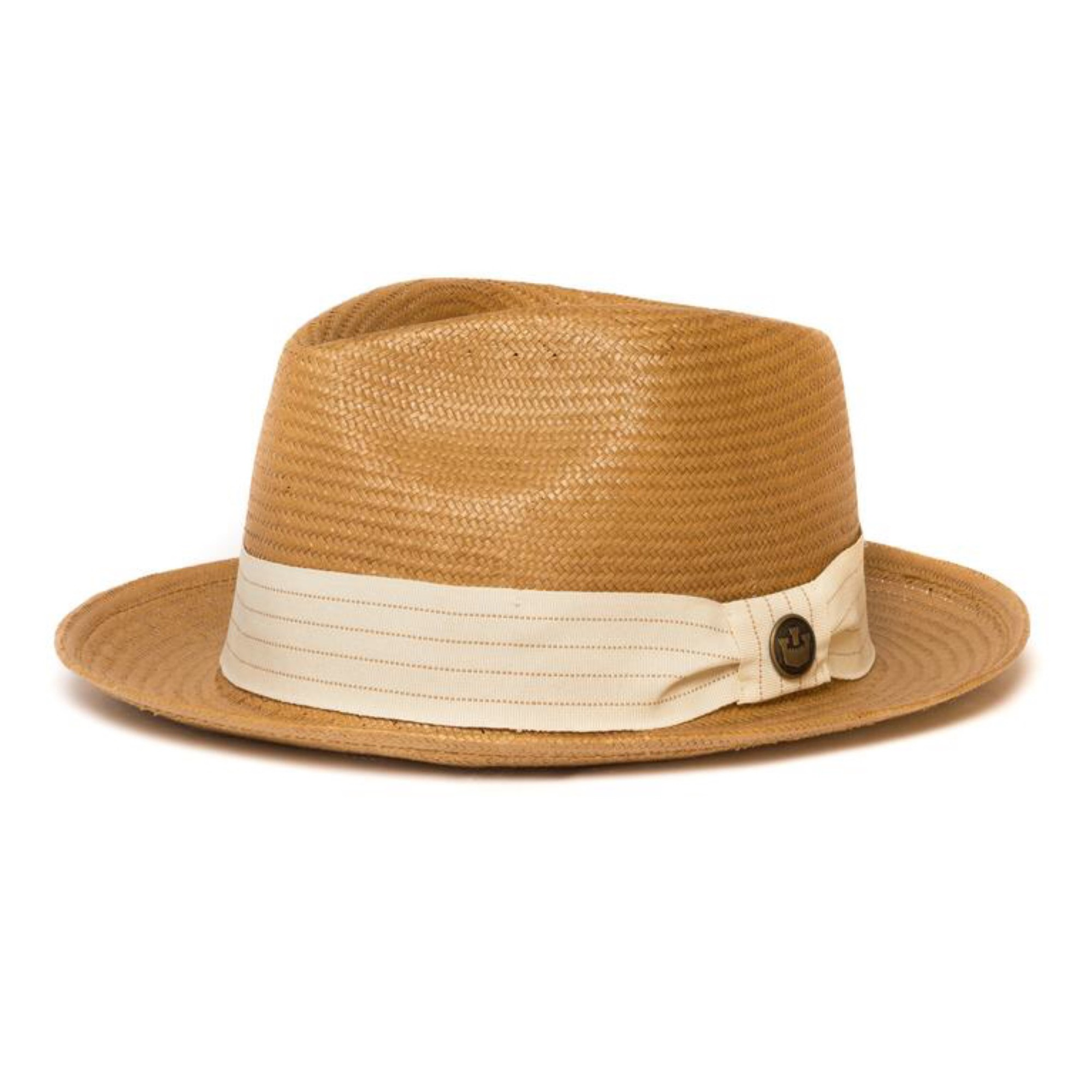 Dr-Tumbletys-Apothecary-inspired-by-spirits-distilling-company-Pittsburgh-goorin-bros-hat-fedora-gangster-miami-straw-natural-tan-camel-straw-grosgrain-snare-pinched-white-band