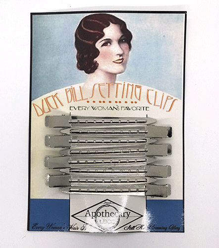 Dr-Tumbletys-Apothecary-inspired-by-spirits-distilling-company-Pittsburgh-lbcc-historical-original-recipe-authentic-vintage-natural-duck-bill-setting-clips-pinning-hair-pin-wave-waving-setting-curls-flapper-roaring-20s-twenties-retro-cosmetics