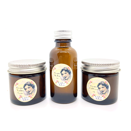 Dr-Tumbletys-Apothecary-inspired-by-spirits-distilling-company-Pittsburgh-lovely-rose-apothecary-geranium-skin-care-set-tonic-vanishing-cream-cold-cream-travel-acne-moisturize