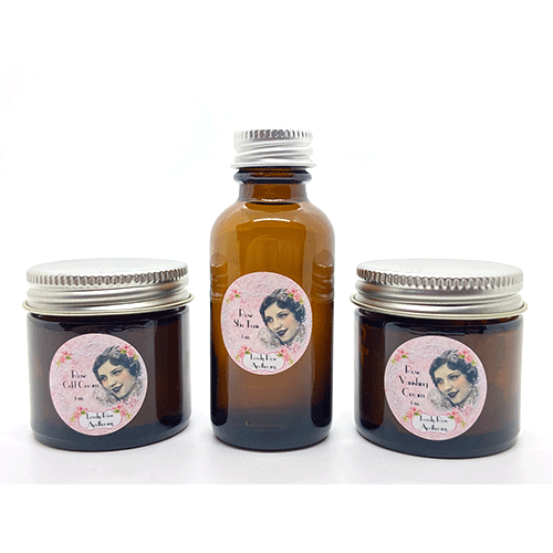 Dr-Tumbletys-Apothecary-inspired-by-spirits-distilling-company-Pittsburgh-lovely-rose-apothecary-rose-skin-care-set-tonic-vanishing-cream-cold-cream-travel-acne-moisturize