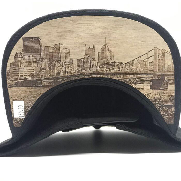Dr-Tumbletys-Apothecary-inspired-by-spirits-distilling-company-Pittsburgh-yinz-lidz-flatbill-flat-bill-snapback-9th-ninth-street-st-bridge-gold-logo-downtown-wood-burnt