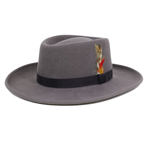 Dr-Tumbletys-Apothecary-Inspired-by-Spirits-Distilling-Co-New-York-Hat-and-Cap-Company-Pittsburgh_Midnight-Gambler-Grey-Fedora-western-cowboy-wide-brim-fedora-prohibition