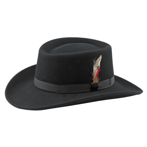 Midnight-Gambler-Fedora-Dr-Tumbletys-Apothecary-inspired-by-spirits-distilling-co-pittsburgh-western-fedora-wide-brim-hat-feather-cowboy-black-band-felt-soft