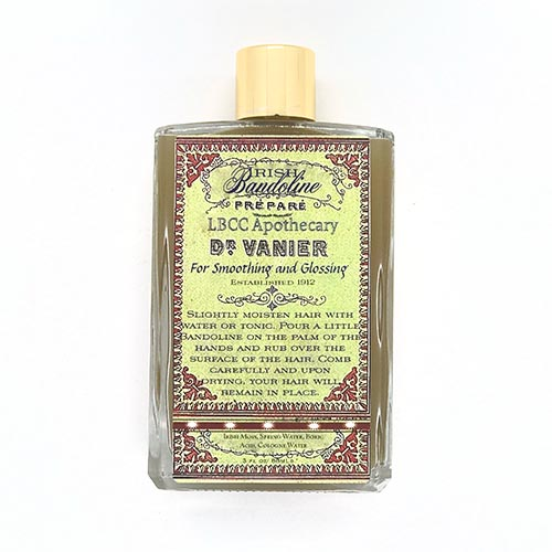 Dr-Tumbletys-apothecary-shop-inspired-by-spirits-distilling-co-pittsburgh-allentown-LBCC-Historical-Dr-Vanier-Irish-Bandoline-for-Smoothing-Glossing-original-recipe-natural-victorian-cosmetics-hair-gel-mens-womens