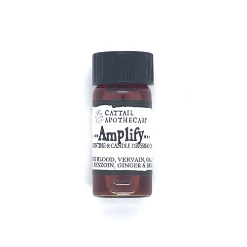 Dr-Tumbletys-apothecary-inspired-by-spirits-distilling-co-pittsburgh-allentown-hilltop-cattail-apothecary-glass-bottle-tincture-vial-herbal-remedy-alternative-medicine-holistic-natural-treatment-amplify-anointing-and-candle-dressing-oil-dragons-blood-vervain-benzoin-myrrh-galangal-ginger-bergamot-enhance-ritual-spellwork-spells-pulse-points-personal-power-boost-confidence-2-dram