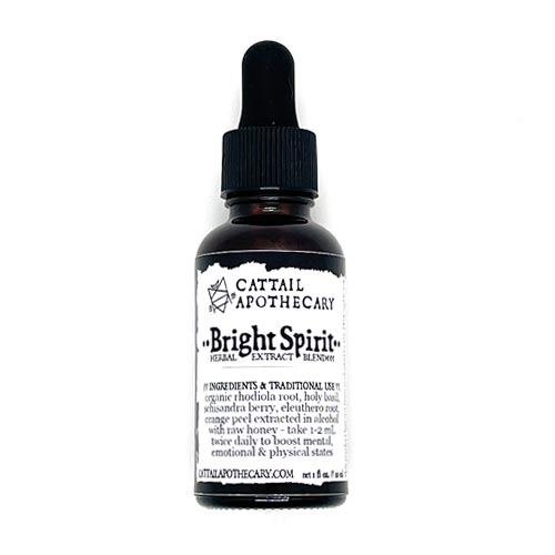 dr-tumbletys-pittsburgh-cattail-apothecary-pittsburgh-inspired-by-spirits-distilling-company-bright-spirit-rhodiola-holy-basil-tulsi-honey-mental-boost-herbal-extract-blend-tincture-energy-memory-stamina-concentration-depression-hormonal-balance